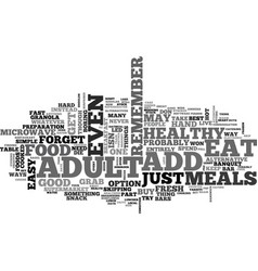adult add eat to live text word cloud concept vector image