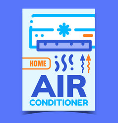 Air conditioner creative advertising banner vector
