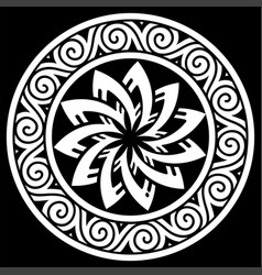 ancient round celtic scandinavian design celtic vector image