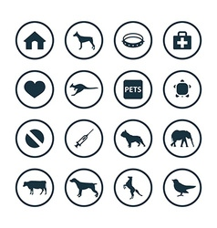Animals pets icons universal set vector