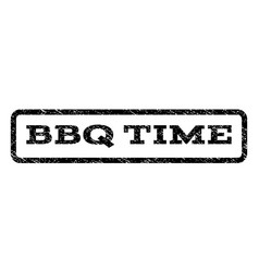 bbq time watermark stamp vector image