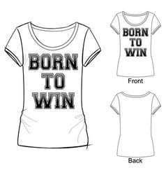 black and white sport fashion print t shirt vector image