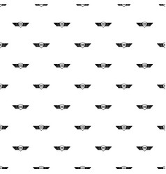 born to fly wings pattern seamless vector image