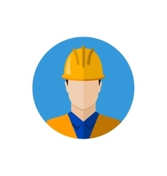 Builder construction worker icon vector