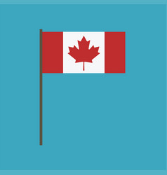 canada flag icon in flat design vector image