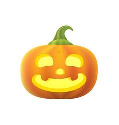 Cartoon pumpkin halloween vector