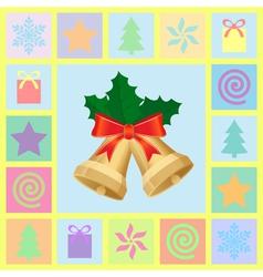 christmas theme symbols vector image vector image