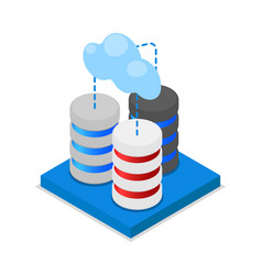 Cloud storage isometric 3d icon vector