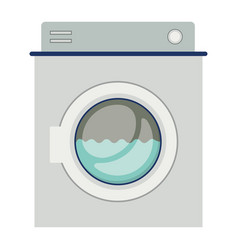 colorful silhouette of washing machine with water vector image