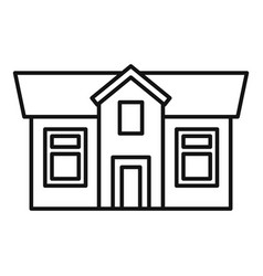 Cottage house icon outline style vector