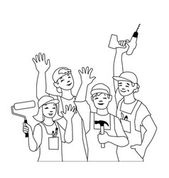 craftspeople vector image
