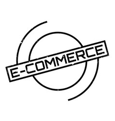 E-commerce rubber stamp vector