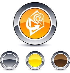 e-mail round button vector image