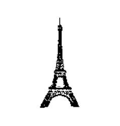 eiffel tower paris 8 bit minimalistic pixel art vector image