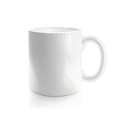 Empty white mug vector