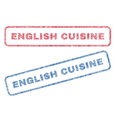 English cuisine textile stamps vector