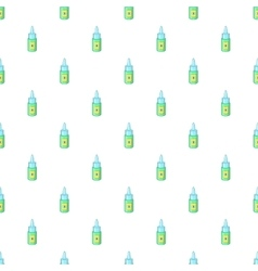 Eye drops bottle pattern cartoon style vector