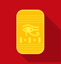 Eye of horus icon in flat style isolated on white vector