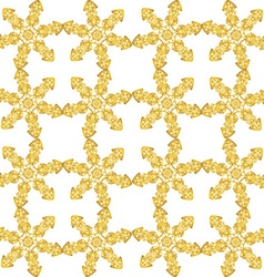 Festive seamless pattern with gold-colored vector image