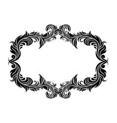 filigree floral frame ornamental decoration in vector image