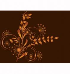 flower pattern decorative vector image