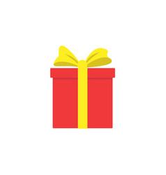 gift box icon special present idea flat design vector image