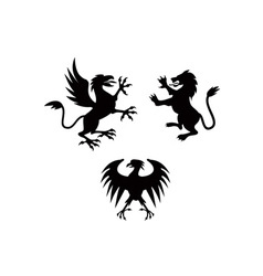 Griffin Lion Silhouette vector