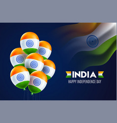Happy indian independence day celebration poster vector