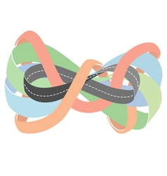 Highway as a moebius strip vector