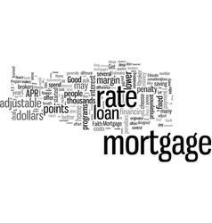 how to save money when you apply for a mortgage vector image