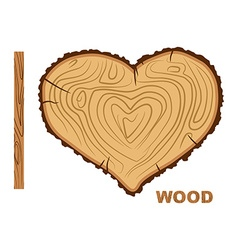 I love wood Cutting tree as a symbol of heart vector