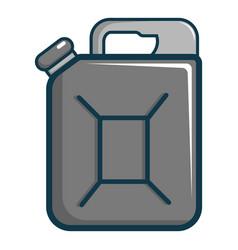 jerrycan icon cartoon style vector image