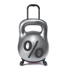Kettlebell like travel suitcase debt and loan vector