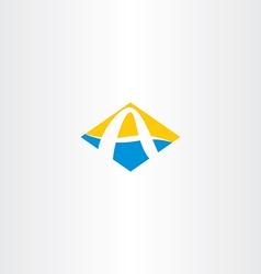 Letter a summer beach tourism logo icon vector