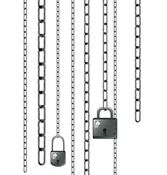 lock with chains vector image