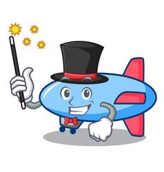 Magician zeppelin mascot cartoon style vector