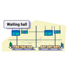 modern airport interior waiting hall departure vector image