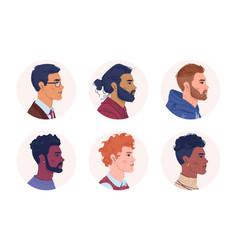 multinational people diversity men portrait vector image