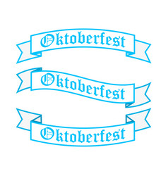 oktoberfest ribbon banners in bavarian colors vector image vector image