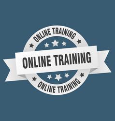 online training ribbon online training round vector image
