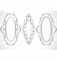 Oval frames vector