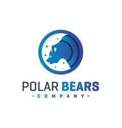 polar bear animal logo vector image