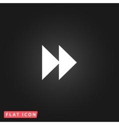 rewind forward icon vector image