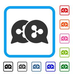 Ripple bids framed icon vector