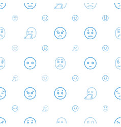 Sad icons pattern seamless white background vector