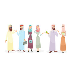 Set of arabic business people vector