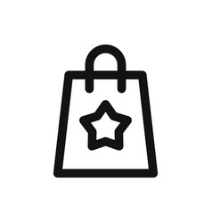 shopping bag with star icon vector image