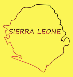 sierra leone map vector image