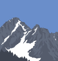 snow capped mountains vector image