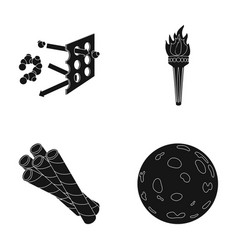 space training and or web icon in black style vector image